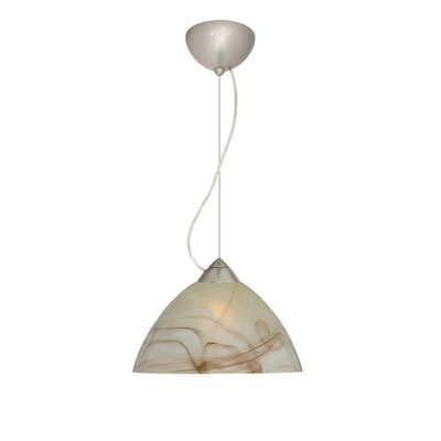 Tessa 1-Light Mini Pendant Finish: Satin Nickel, Bulb Type: Incandescent