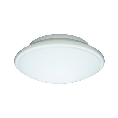 Aluminum Flush Mount Size: 3.75 H x 10 W x 10 D, Glass Shade: Opal