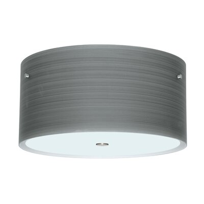 Tamburo 3-Light Flush Mount Size / Shade Color: 8.125 / Titan, Finish: Satin Nickel