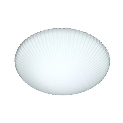 Opal Glass Flush Mount Size: 4.5 H x 12 W x 12 D