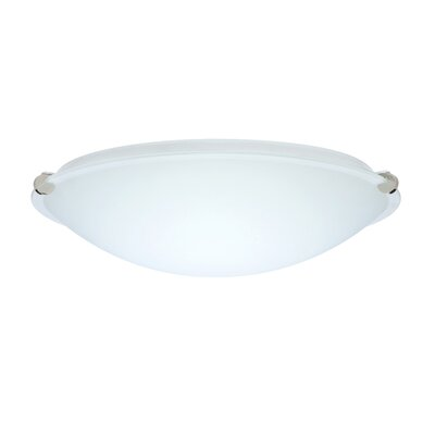 Trio Flush Mount Size: 4.75 H x 15.75 W x 15.75 D, Glass Shade: White