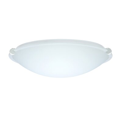 Steel Flush Mount Finish: White, Glass Shade: Opal Matte, Size: 5 H x 19.75 W x 19.75 D