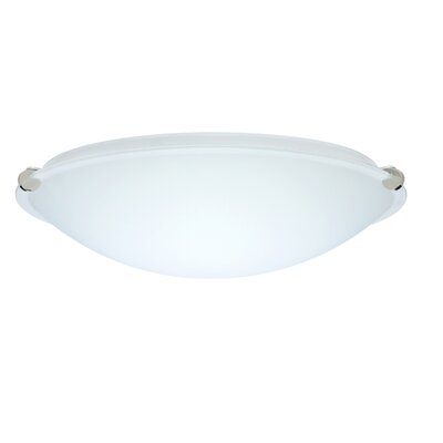 Trio Flush Mount Size: 5 H x 19.75 W x 19.75 D, Glass Shade: White