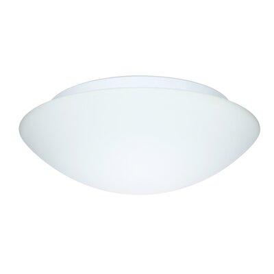 Besa Flush Mount Size: 4.25 H x 15.5 W x 15.5 D, Glass Shade: White Starpoint
