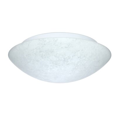 Besa Flush Mount Size: 4.25 H x 15.5 W x 15.5 D, Glass Shade: Carrera