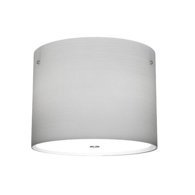 Tamburo 3-Light Flush Mount Size / Shade Color: 8.125 / Clear Stone, Finish: Satin Nickel