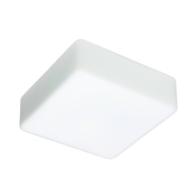 2-Light Opal Glass Flush Mount Size: 4.25 H x 11 W x 11 D