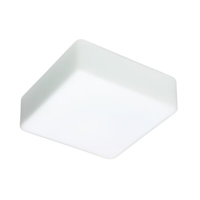2-Light Opal Glass Flush Mount Size: 3.75 H x 9 W x9 D