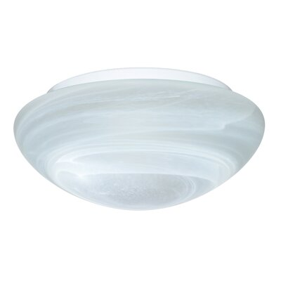 2-Light Marble Glass Flush Mount Size: 4 H x 10 W x 10 D