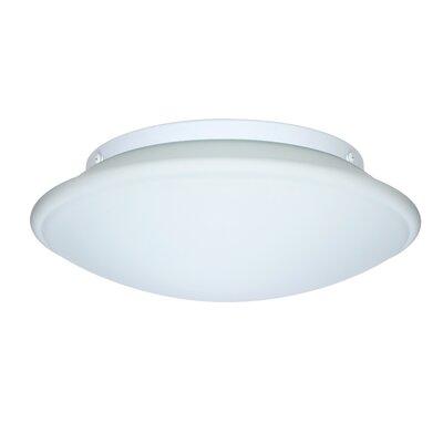 Aluminum Flush Mount Size: 4.75 H x 16 W x 16 D, Glass Shade: Opal