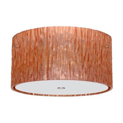 Tamburo 3 Light Semi Flush Mount Shade Color: Copper Foil