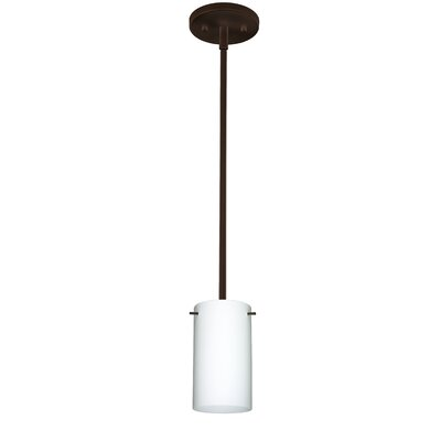 Stilo 1-Light Mini Pendant Finish: Bronze, Shade Color: Opal Matte, Bulb Type: Incandescent