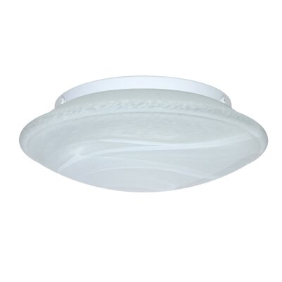 Aluminum Flush Mount Size: 4.75 H x 16 W x 16 D, Glass Shade: Marble