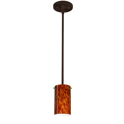 Stilo 1-Light Mini Pendant Finish: Satin Nickel, Shade Color: Garnet, Bulb Type: Incandescent