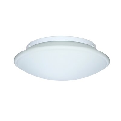Aluminum Flush Mount Size: 4.25 H x 12.5 W x 12.5 D, Glass Shade: Opal