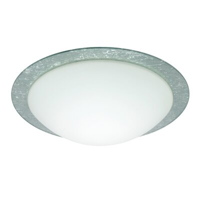 Besa Flush Mount Size: 3.875 H x 12.625 W x 12.625 D, Glass Shade: Silver Foil