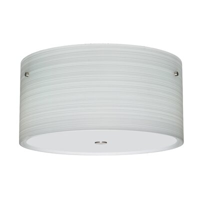 Tamburo 3-Light Flush Mount Size / Shade Color: 8.125 / Chalk, Finish: Satin Nickel