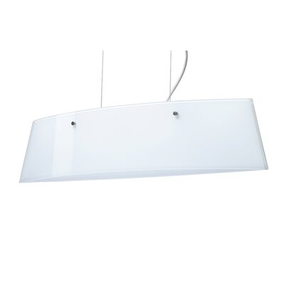 Silhouette Pendant Size / Glass Shade: 6.375 H x 27.625 W x 5.5 D / Opal Glossy, Finish: Polished Nickel