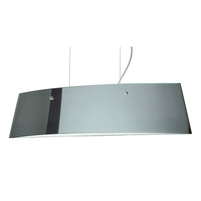 Silhouette Pendant Size / Glass Shade: 6.375 H x 27.625 W x 5.5 D / Mirror/Frost, Finish: Satin Nickel
