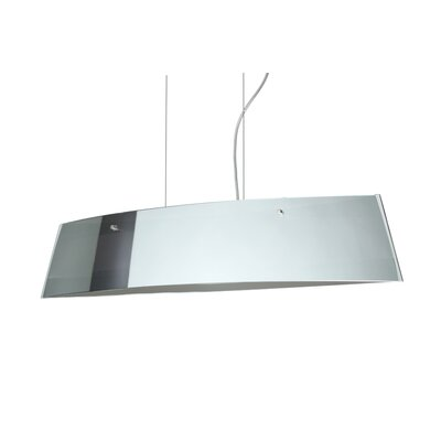 Silhouette Pendant Size / Glass Shade: 6.75 H x 35.5 W x 5.875 D / Mirror/Frost, Finish: Satin Nickel