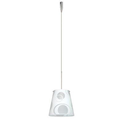 Amelia 1 Light Mini Pendant Finish: Satin Nickel, Glass Shade: Cosmic, Bulb Type: Incandescent