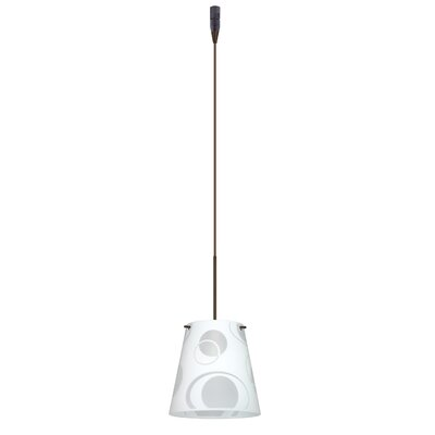 Amelia 1 Light Mini Pendant Finish: Bronze, Glass Shade: Cosmic, Bulb Type: Incandescent