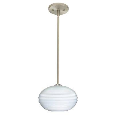 Pape 1-Light Mini Pendant Finish: Satin Nickel, Bulb Type: Incandescent