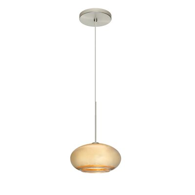 Brio 1-Light Globe Pendant Finish: Satin Nickel, Shade Color: Gold Foil