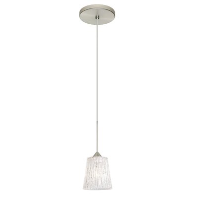Nico 1-Light Drum Pendant Finish: Satin Nickel, Bulb Type: LED