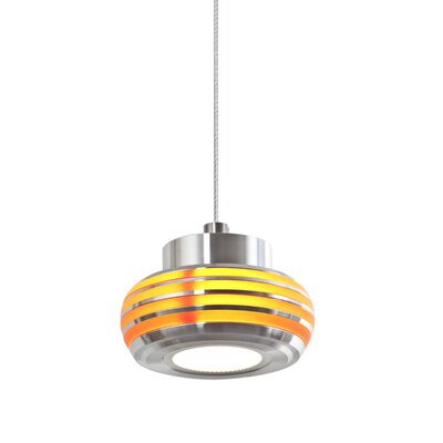 Flower 1-Light Mini Pendant Shade Color: Amber