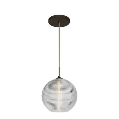 Kristall 1 Integrated Bulb Globe Pendant Finish: Brushed Bronze, Shade Color: Clear