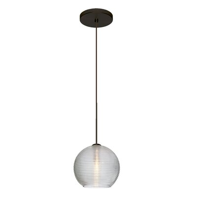 Kristall 1-Light Mini Pendant Finish: Brushed Bronze, Shade Color: Clear