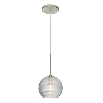 Kristall 1-Light Mini Pendant Finish: Satin Nickel, Shade Color: Clear