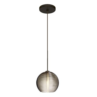 Kristall 1-Light Mini Pendant Finish: Brushed Bronze, Shade Color: Smoke