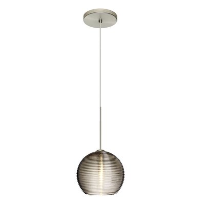 Kristall 1-Light Mini Pendant Finish: Satin Nickel, Shade Color: Smoke