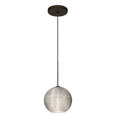 Kristall 1-Light Mini Pendant Finish: Brushed Bronze, Shade Color: Glitter