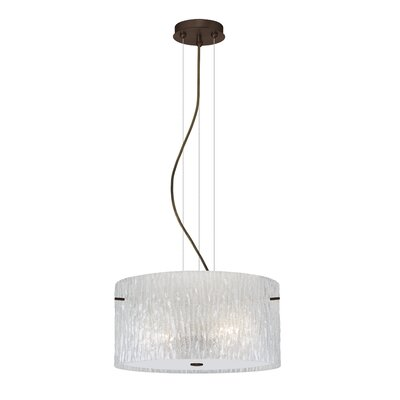 Tamburo 1-Light Drum Pendant Finish: Brushed Bronze, Bulb Type: LED