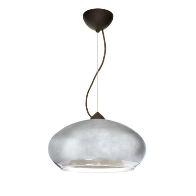 Brio 1-Light Globe Pendant Finish: Satin Nickel, Shade Color: Silver Foil