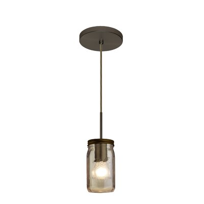 Milo 1-Light Mini Pendant Finish: Brushed Bronze, Shade Color: Smoke