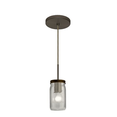 Milo 1-Light Mini Pendant Finish: Brushed Bronze, Shade Color: White