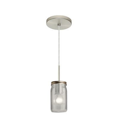 Milo 1-Light Mini Pendant Finish: Satin Nickel, Shade Color: White