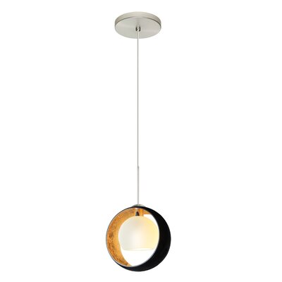Speidel 1 Bulb Mini Pendant Finish: Satin Nickel, Shade Color: Gold Foil