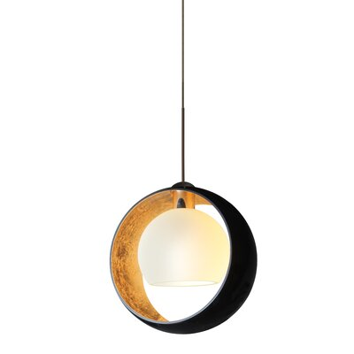 Speidel 1-Light Mini Pendant Finish: Brushed Bronze, Shade Color: Gold Foil