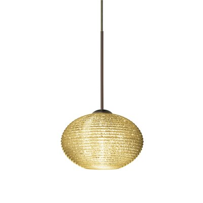 Lasso 1-Light Globe Pendant Finish: Brushed Bronze
