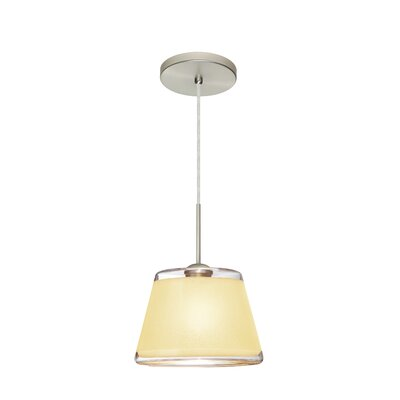 Pica 1-Light Mini Pendant Finish: Satin Nickel, Shade Color: Creme