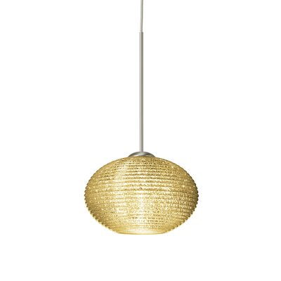Lasso 1-Light Globe Pendant Finish: Satin Nickel