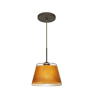 Pica 1-Light Mini Pendant Finish: Brushed Bronze, Shade Color: Gold