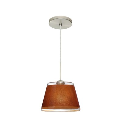 Pica 1-Light Mini Pendant Finish: Satin Nickel, Shade Color: Tan
