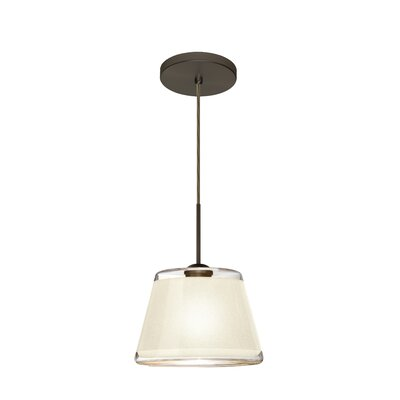 Pica 1-Light Mini Pendant Finish: Brushed Bronze, Shade Color: White