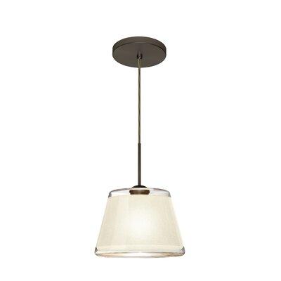 Pica 1-Light Mini Pendant Finish: Brushed Bronze, Shade Color: White